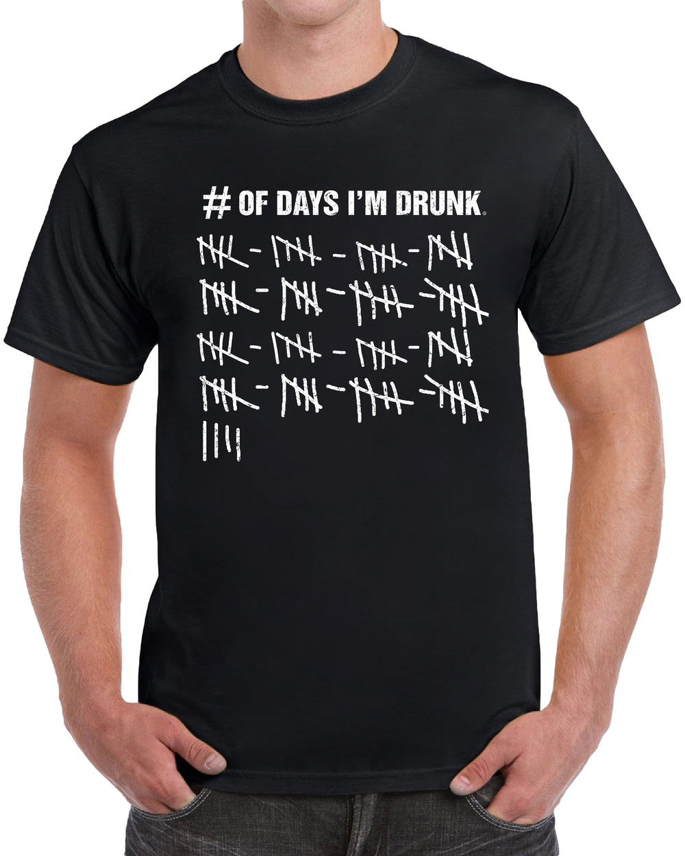 Number of Days I'm Drunk - Distressed Print