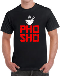 Pho Sho Vietnamese Beef Noodle Soup - Red Distressed Print