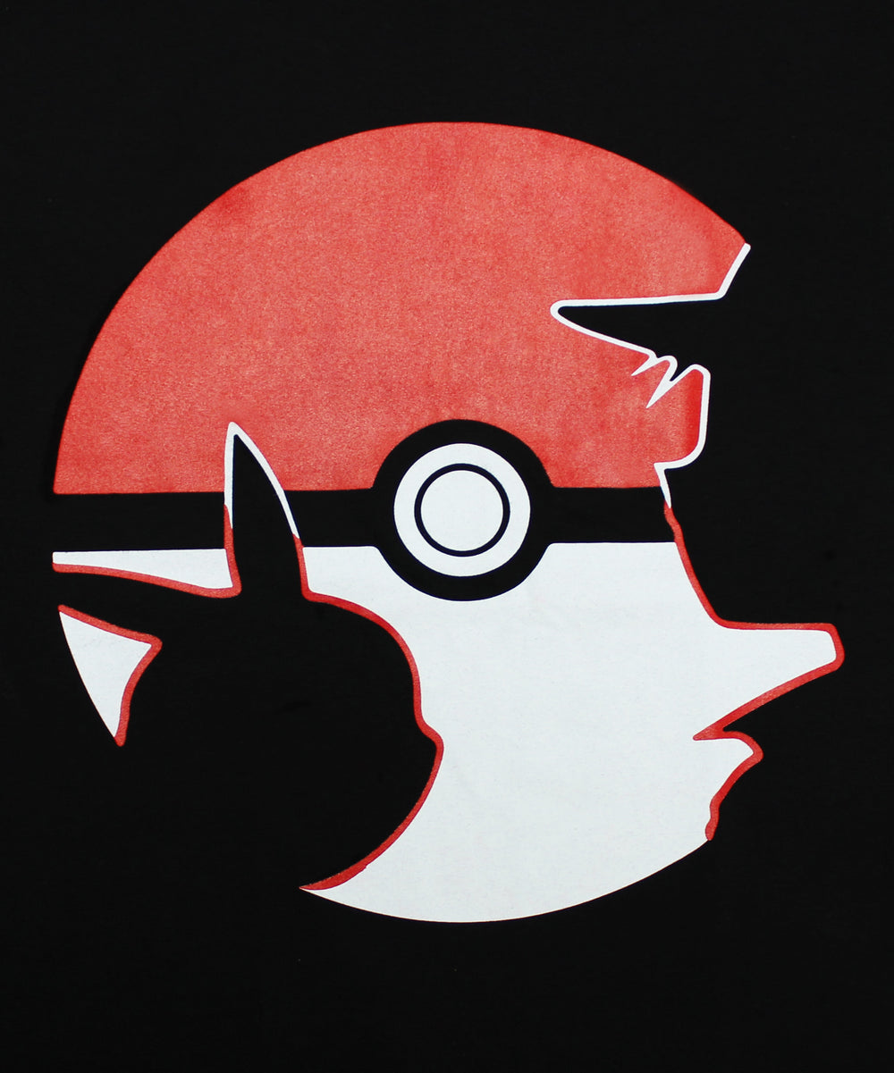 Pokemon Go Pikachu and Ash Silhouette