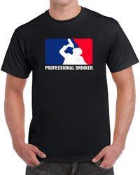 Professional Drinker Drinking - Distressed Print
