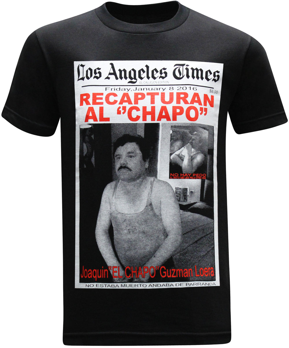 El Chapo Guzman Recapturan Men's T-Shirt - tees geek