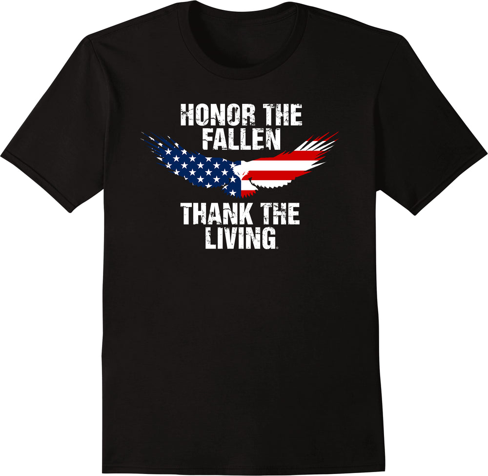 Honor The Fallen Thank The Living - Blue Eagle