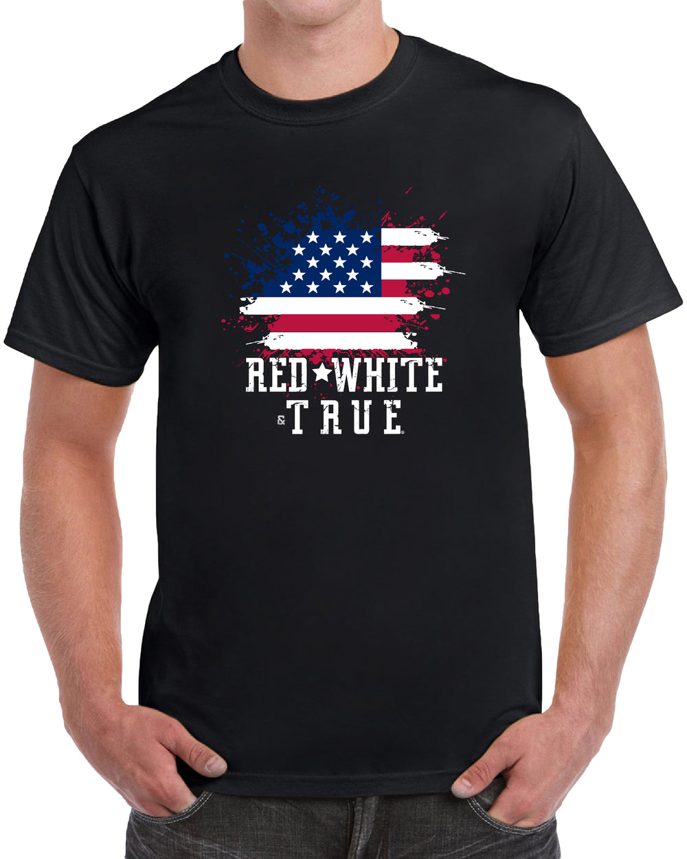 Red White & True American - Centered Print