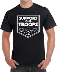 Support Our Troops - Solid White Print