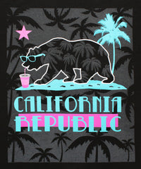 California Republic Summer Chillen Men's Muscle Tee Tank Top T-Shirt - tees geek