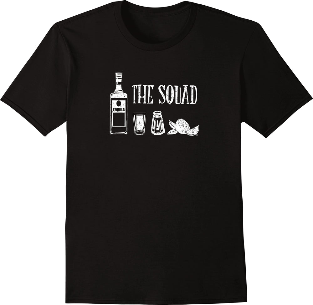 Tequila The Squad Drinking - Distressed Print