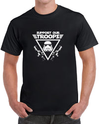 Support Our Troops - White Print