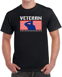 Veteran Flag Salute - Distressed Print