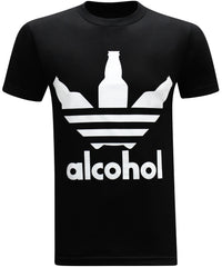 Alcohol Men's Funny Drinking T-Shirt - tees geek