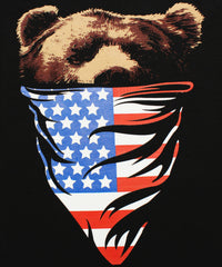 California Republic American Flag Bandana Bear Men's Muscle Tee Tank Top T-Shirt - tees geek