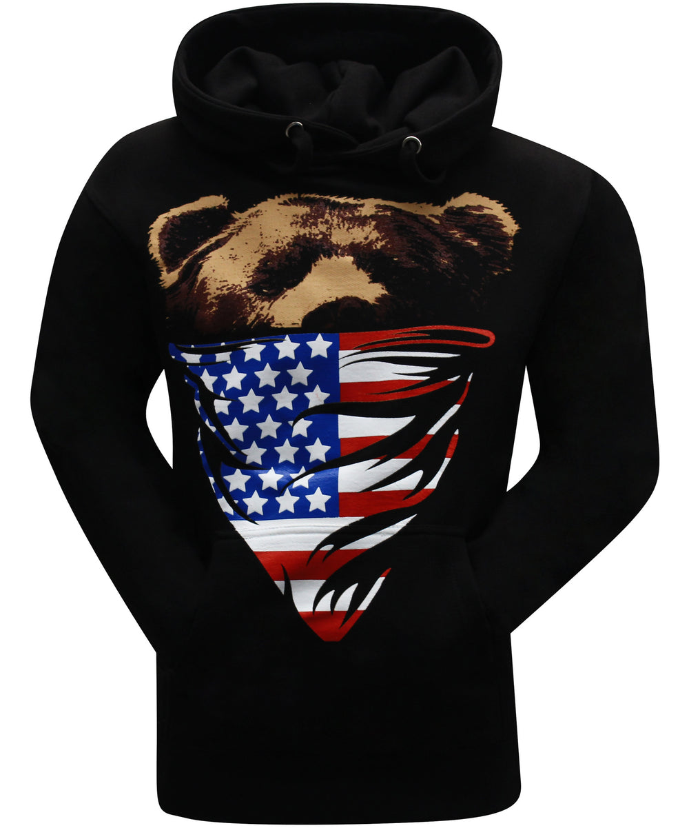 California Republic American Flag Bandana Bear