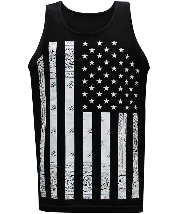 California Republic Bandana Flag Men's Muscle Tee Tank Top T-Shirt - tees geek