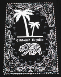 California Republic Bandana Palm Men's T-Shirt - tees geek