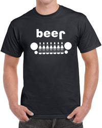 Beer Jeep Men's Funny Drinking T-Shirt - tees geek