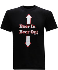 Beer In Beer Out Men's Funny Drinking T-Shirt - tees geek