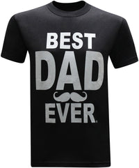 Best Dad Ever Mustache Father's Day Gifts Birthday Gifts Men's T-Shirt - tees geek