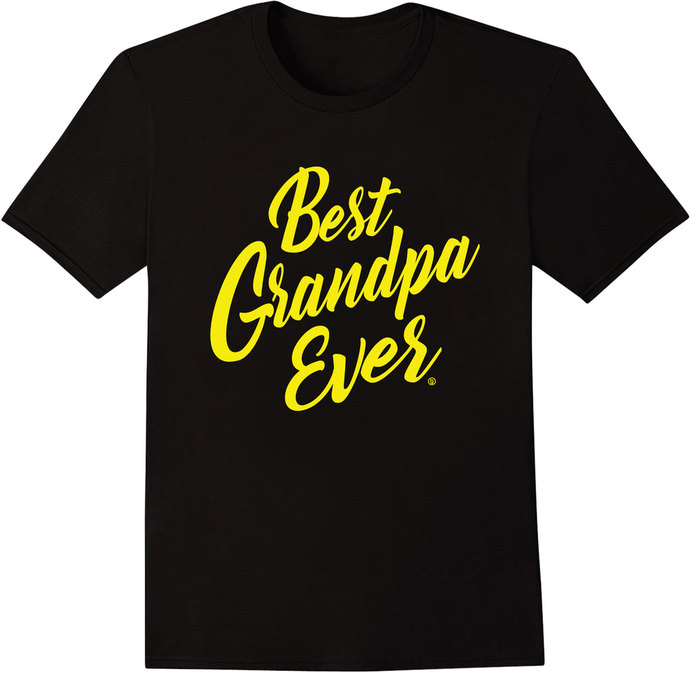 Best Grandpa Ever - Yellow Print