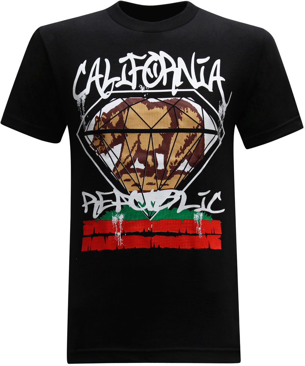 California Republic Big Diamond Men's T-Shirt - tees geek