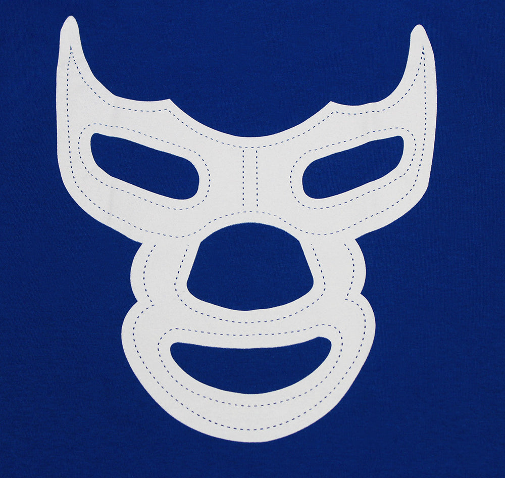 Blue Demon Mask Mexican Luchador Latino Men's Funny T-Shirt - tees geek