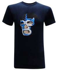 Blue Demon Mexican Luchador Latino Men's Funny T-Shirt - tees geek