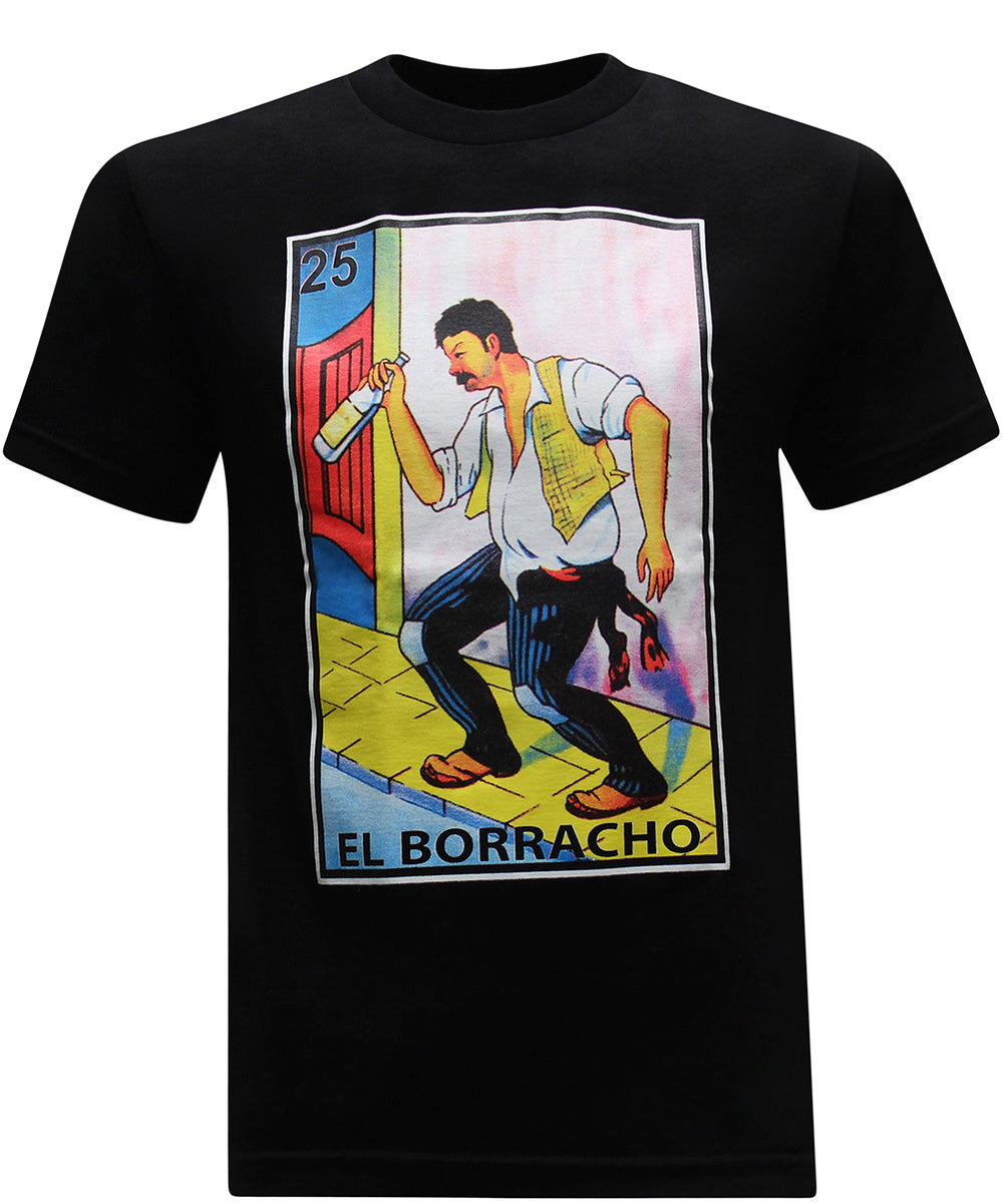 El Borracho Mexican Latino Men's Funny Drinking T-Shirt - tees geek