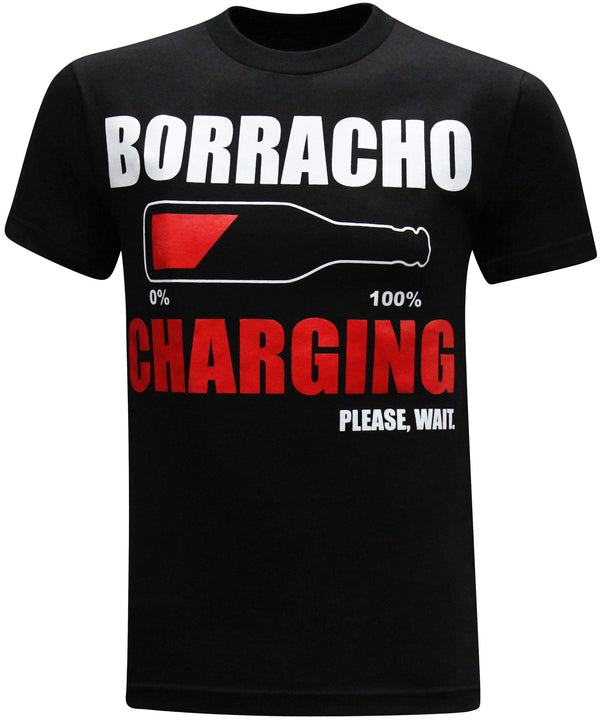 Borracho Charging Mexican Latino Men's Funny Drinking T-Shirt - tees geek