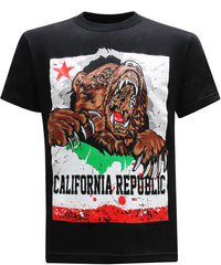 California Republic Breakthrough Bear Men's T-Shirt - tees geek