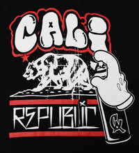 California Republic Cali Graffiti Men's T-Shirt - tees geek