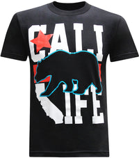 California Republic Cali Life Black Men's T-Shirt - tees geek