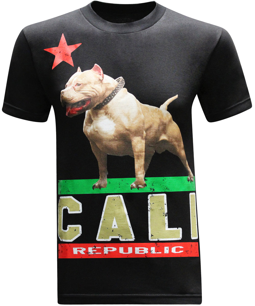 California Republic Cali Pit Bull Men's T-Shirt - tees geek