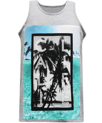 California Republic Cali Portrait Men's Muscle Tee Tank Top T-Shirt - tees geek
