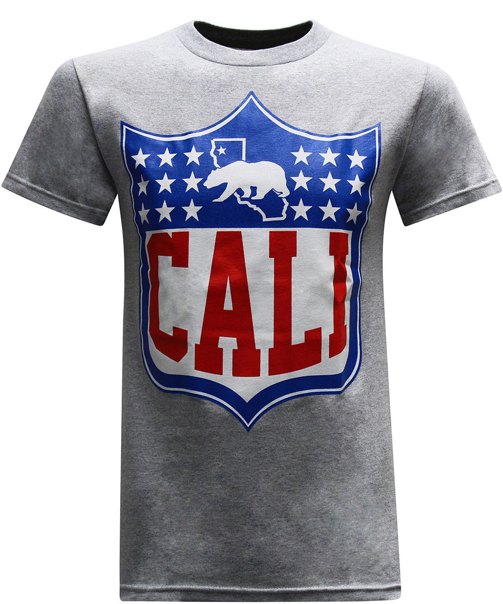 California Republic Cali Shield Men's T-Shirt - tees geek