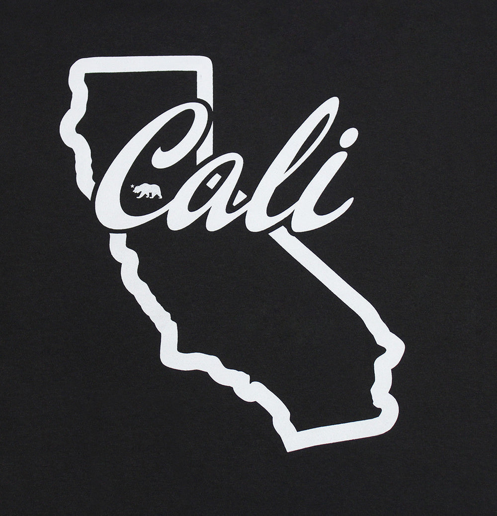 California Republic Cali State Outline Men's T-Shirt - tees geek
