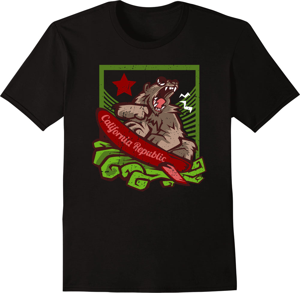 California Republic The Surfing Bear Battle Cry - Growling Bear
