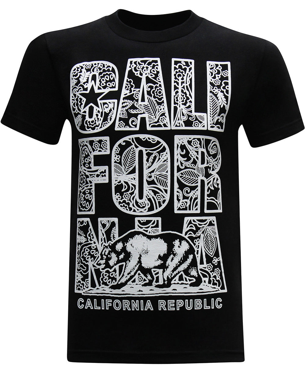 California Republic Paisley Men's T-Shirt - tees geek