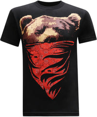 California Republic Red Bandana Bear Men's T-Shirt - tees geek