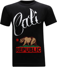 California Republic Calligraphy Men's T-Shirt - tees geek