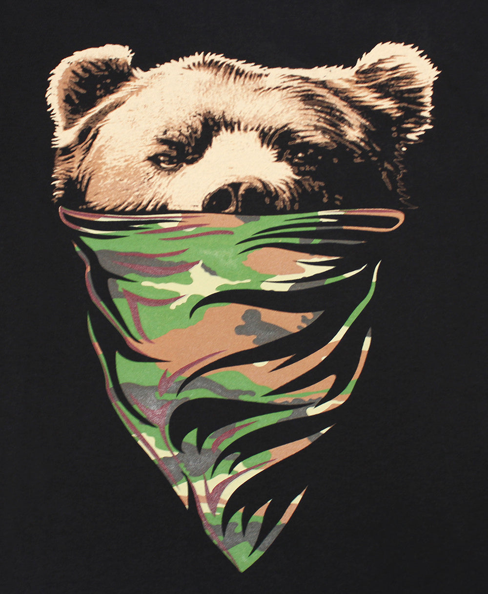 California Republic Camo Bandana Bear Men's T-Shirt - tees geek