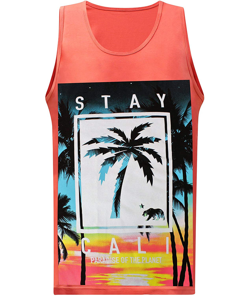 California Republic Stay Cali - Tank Coral