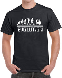 Drummer Evolution Rock and Roll Men's Funny T-Shirt - tees geek