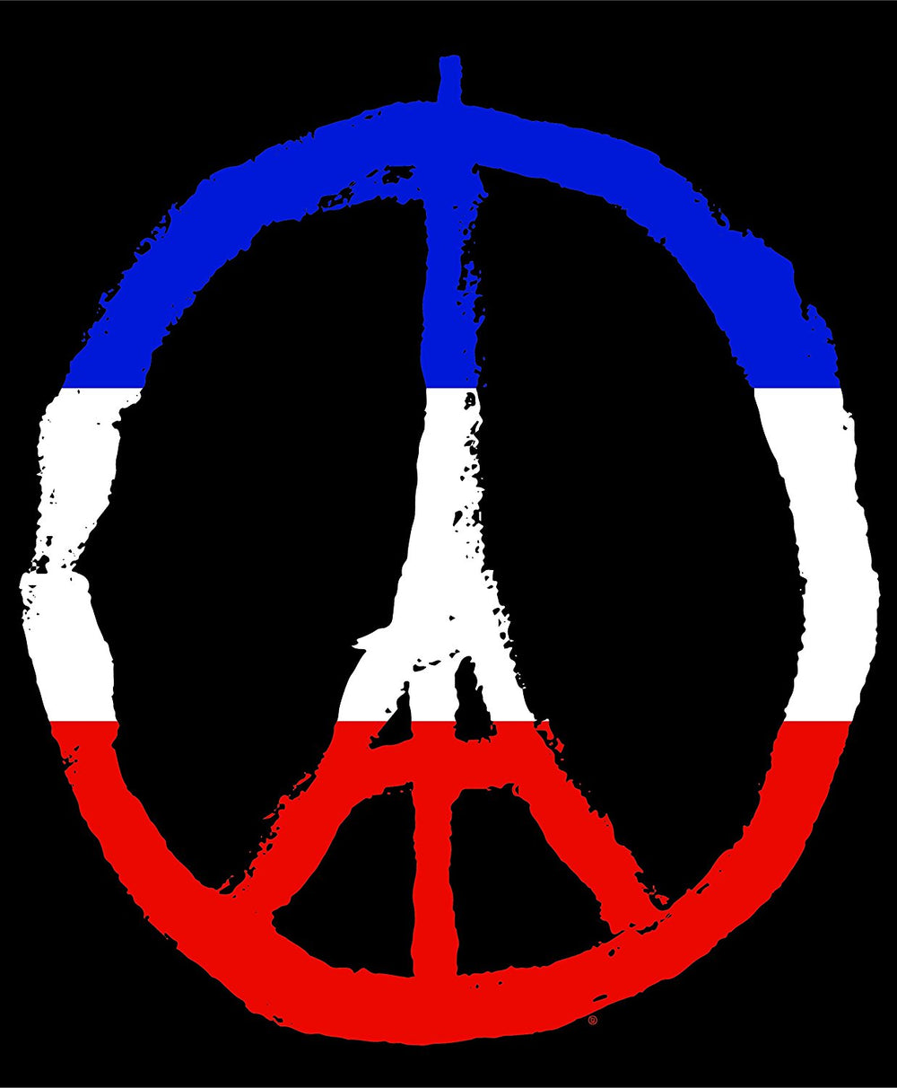 Eiffel Tower Peace Symbol Commemorative Solidarity