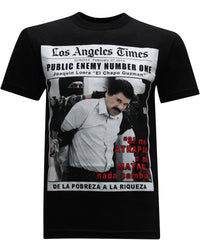El Chapo Guzman Public Enemy Men's T-Shirt - tees geek