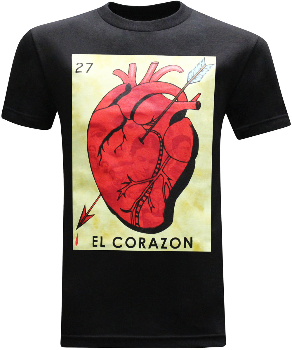 El Corazon Frida Kahlo Mexican Latino Men's T-Shirt - tees geek