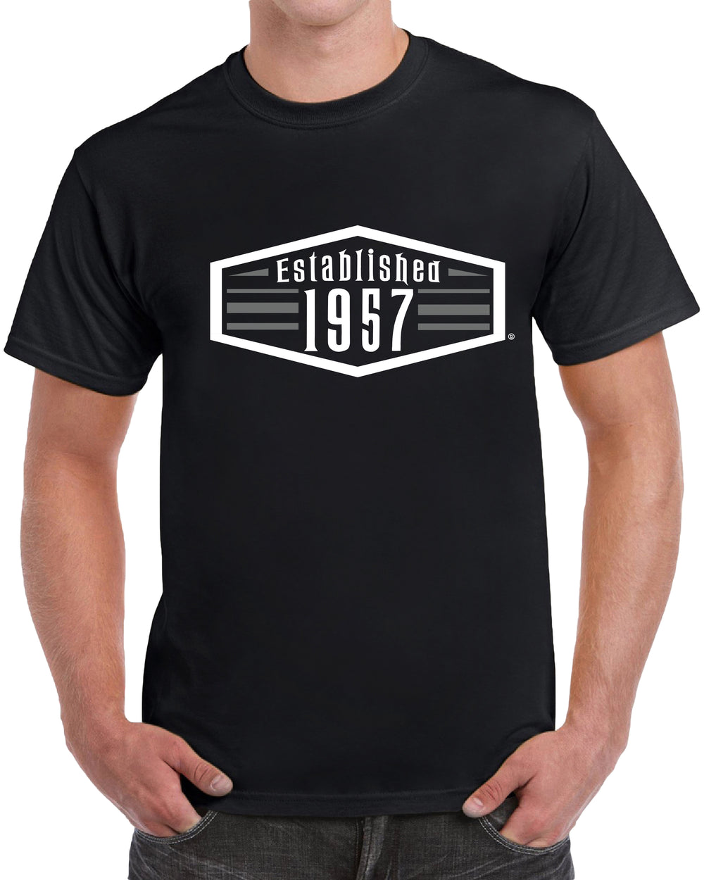 Established 1957 - 62nd Birthday - Gray Print