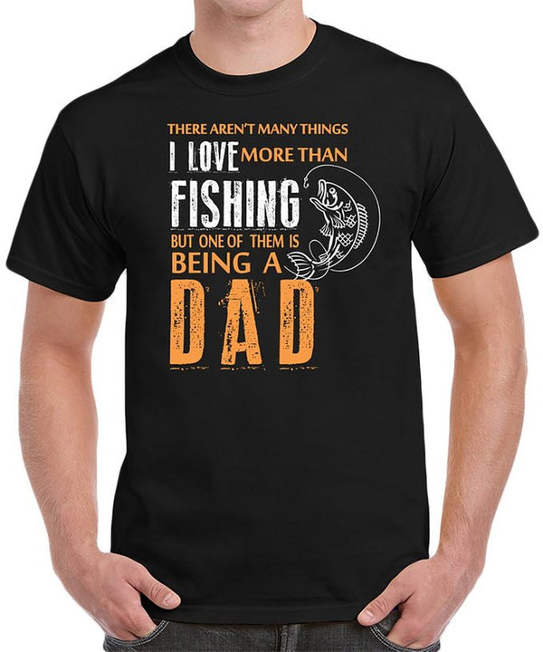 Fishing Dad I Love Fishing Father's Day Birthday Gifts Men's T-Shirt - tees geek
