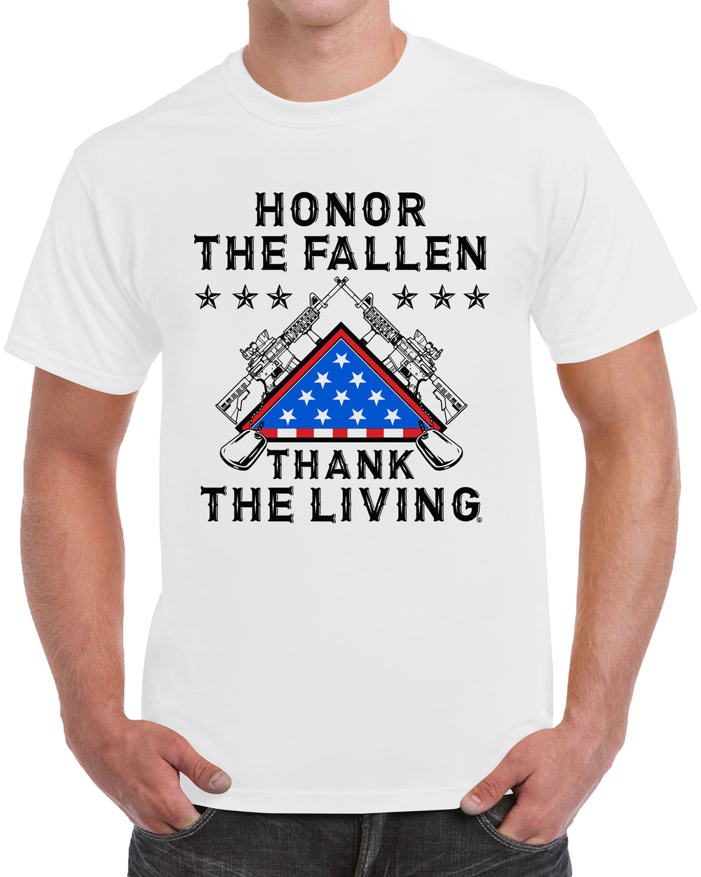 Honor The Fallen Thank The Living - White