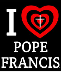 I Love Pope Francis Heart