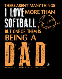 Softball Dad I Love Softball