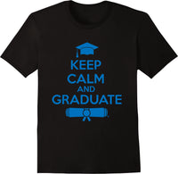 Keep Calm & Graduate Black - Blue Print