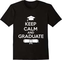 Keep Calm & Graduate Black - White Print